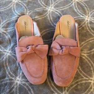 Shoes - Pink bow slides
